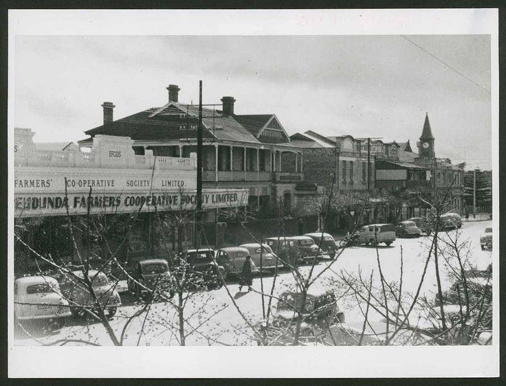 Bridge Street, Murray Bridge, South Australia, 1953 - Bridge Street, showing Eudunda Farmers Co-operative Store