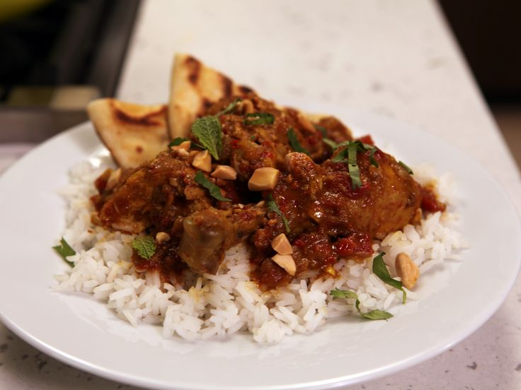 Rachel Ray's Vindaloo Chicken. Per her TV show, shortcut for the spices would be to use a couple tablespoons of curry powder instead of all the other spices -- except the paprika -- use the listed amount of the paprika. There's a video out there of her cooking this on her talk show. That's where I found that little nugget of information.