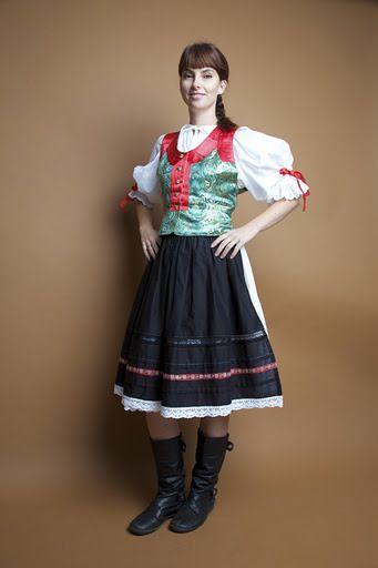 Slovak folk costume Stary Kliz, Skalica