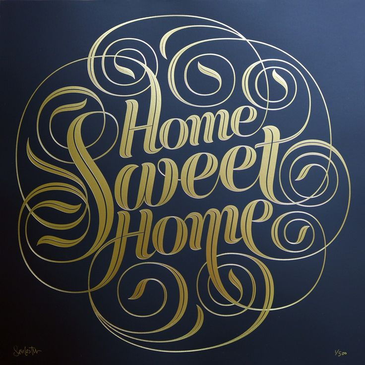Seb Lester Home Sweet Home - Gold Foil Edition - Prints & Editions