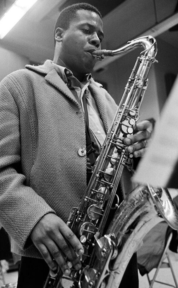 Wayne Shorter [November 1961] during the 'Wayning Moments' sessions, pic by Ted Williams