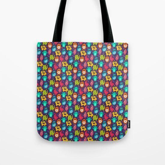 Monster Love seamless pattern Tote Bag by Erika Biro | Society6