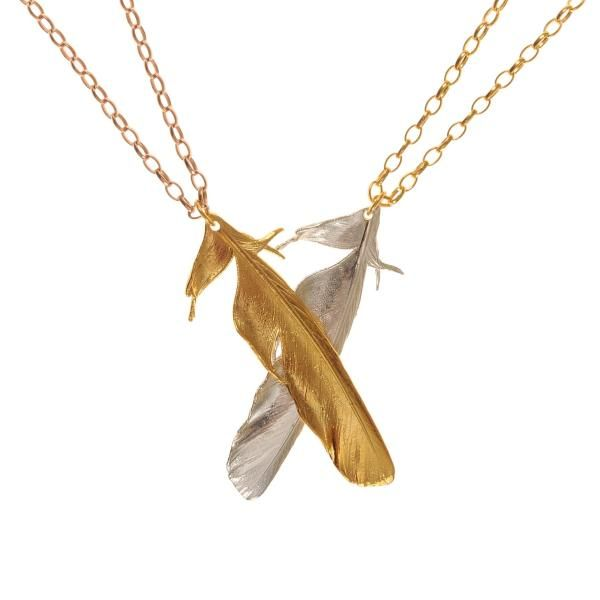 The Magpie Tail Feather Necklace | Claire English