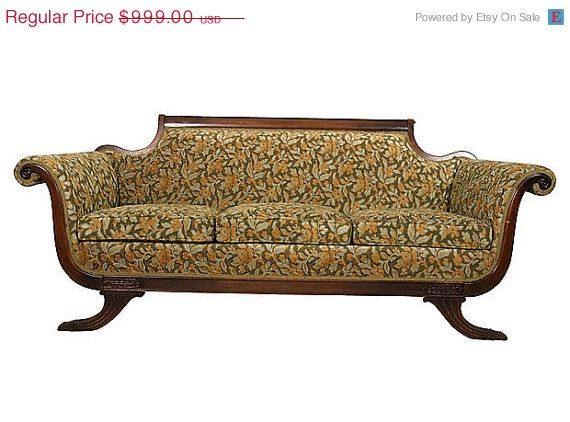 Duncan Phyfe Sofa 1920u0027s By CrackedVesselVintage On Etsy | Duncan Phyfe |  Pinterest | Duncan Phyfe, 1920s Furniture And Upholstery
