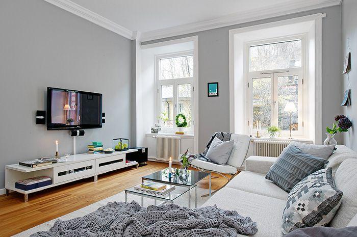 grey walls - amazing Color