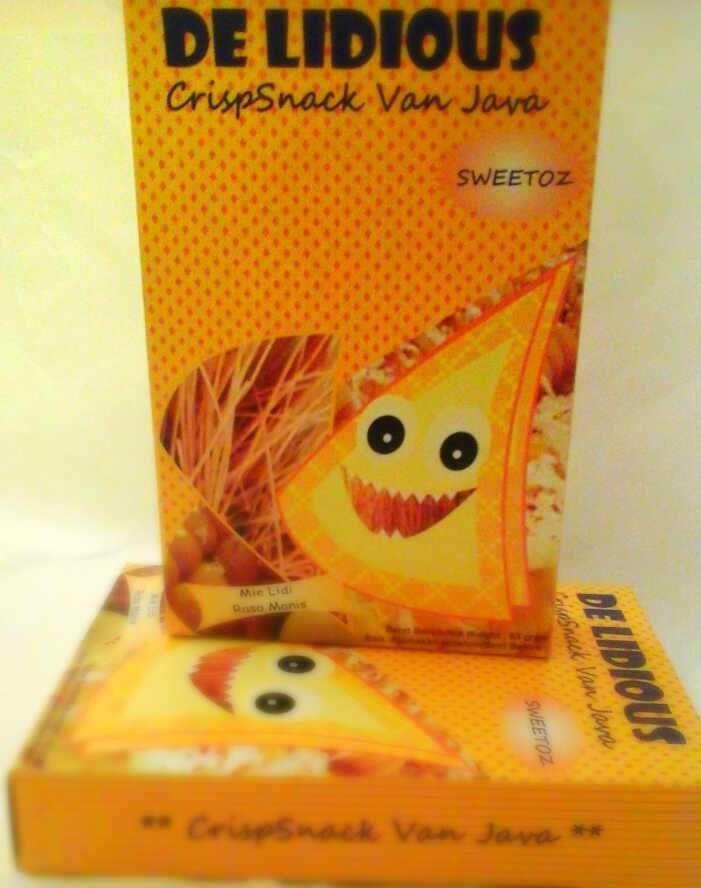 Cluster Sweetoz. Tidak lengkap kalau tersedia mie lidi rasa bumbu manis. De Lidious Sweetoz menyediakan pilihan rasa manis dalam cluster ini, yaitu jagung manis dan keju