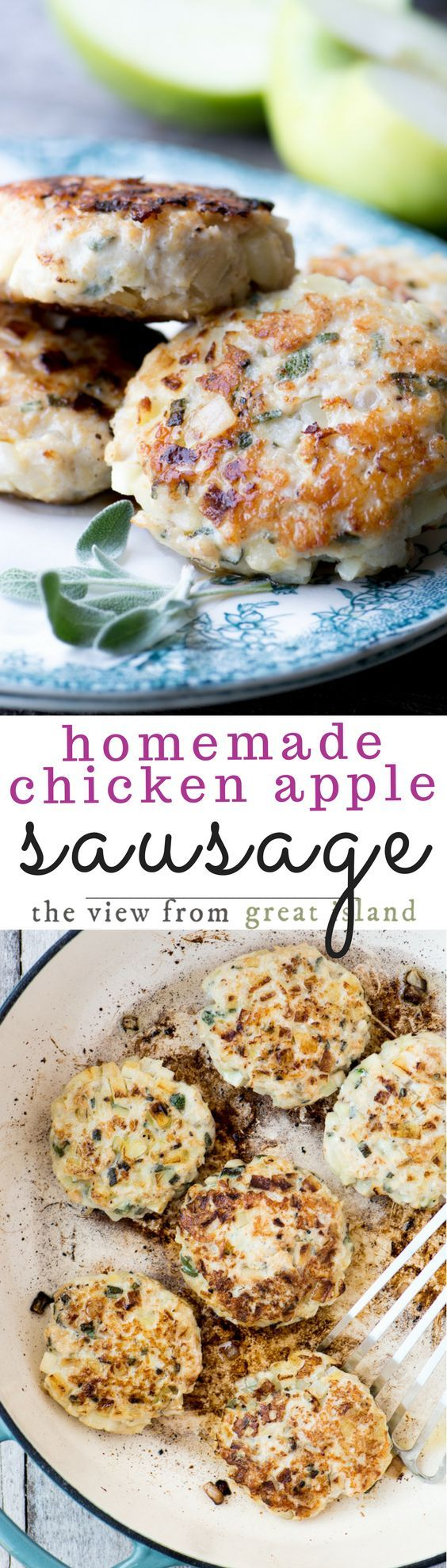 My Homemade Chicken Apple Sausage recipe is an easy way to make your own fabulously fresh sausage right at home ~ it freezes beautifully, too, so be sure to make extra so you can enjoy it anytime. #sausage #breakfast #meat #chickenapple #chickensausage #chicken #healthysausage #homemadesausage #countrysausage #sausagepatties
