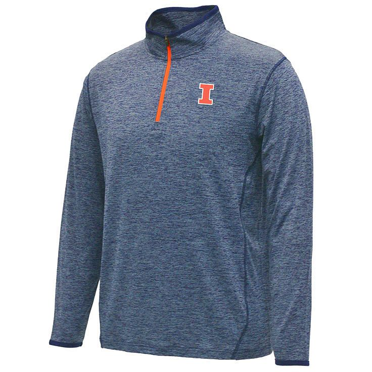 Illinois Fighting Illini Colosseum Action Pass 1/4 Zip Jacket - Navy - $35.99