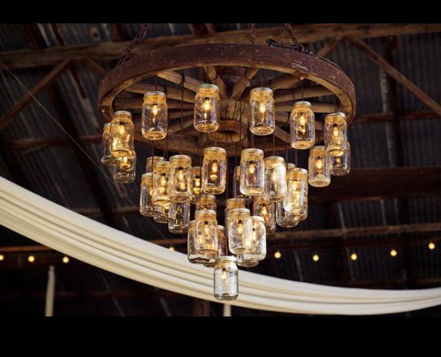 tiny house wheel and jar chandelier mason jar chandelier. Black Bedroom Furniture Sets. Home Design Ideas