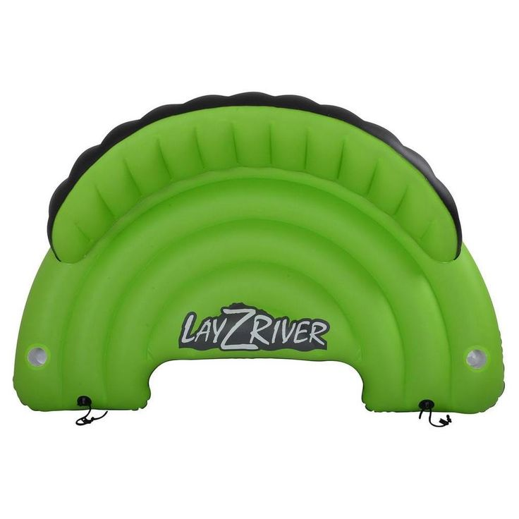Large Inflatable Pool Float Sofa Seat Cushion w 2 Drink Holders Three Capacity  #InflatablePool