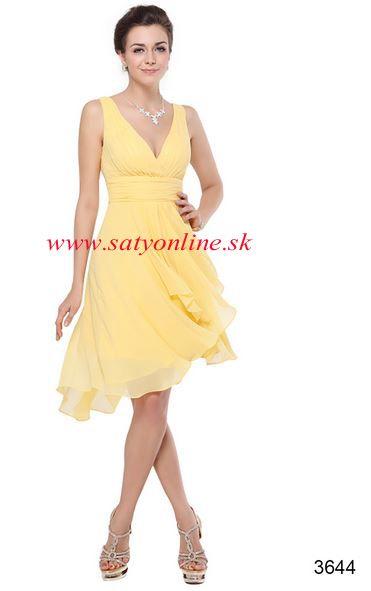 Žlté krátke šaty 3644