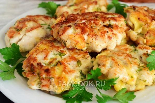 Фото рубленных котлет из куриной грудки с сыром