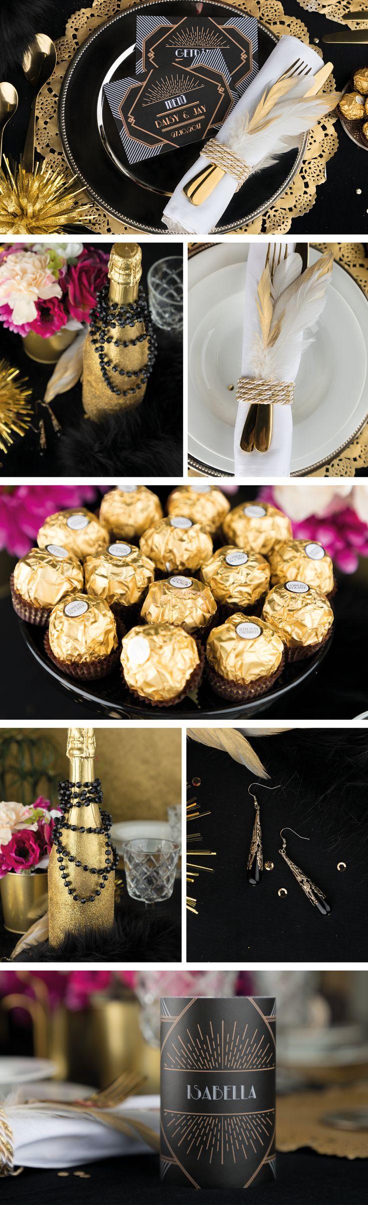 Die Gatsby-Hochzeit im Stil der 20er Jahre – so geht's   – Highlights Hochzeit