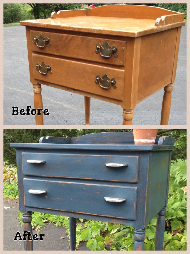 I found this old Ethan Allen nightstand at a second hand store. I painted it in Miss Mustard Seed milk paint in the color Artissimo and replaced the handles. What a transformation! I love this color.