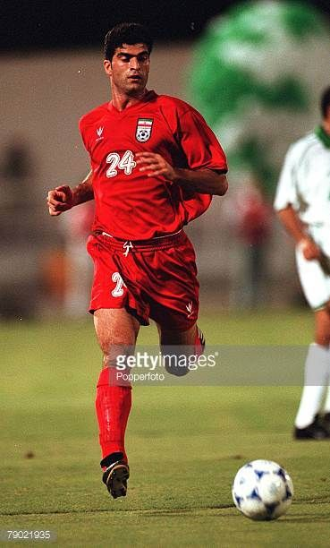 Sport Football 2002 World Cup Qualifier AFC Second Round Group A Jeddah 28th September 2001 Saudi Arabia 2 v Iran 2 Iran's Rahman Rezaei