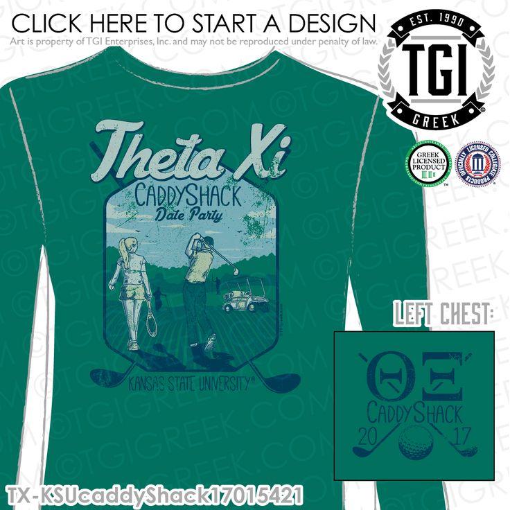 Theta Xi | ΘΞ | Caddy Shack | Date Party | Greek Mixer | TGI Greek | Greek Apparel | Custom Apparel | Sorority Tee Shirts | Sorority T-shirts | Custom T-Shirts