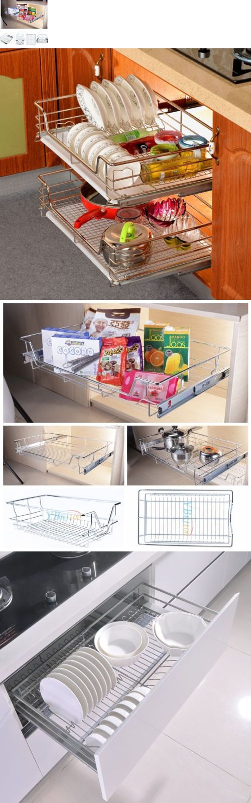 White tilt out clothes storage basket bin bathroom drawer ebay - Racks And Holders 46283 Shelf And Cabinet Sliding Drawer Organizer Metal Pull Out Storage Wire