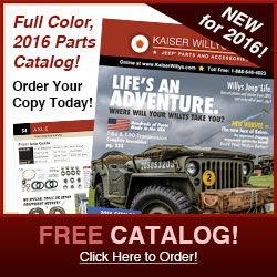 2016 Kaiser Willys Jeep Parts Catalog