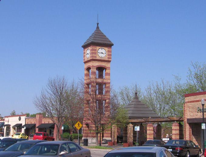 Clock Tower in Downtown Overland Park, Kansas