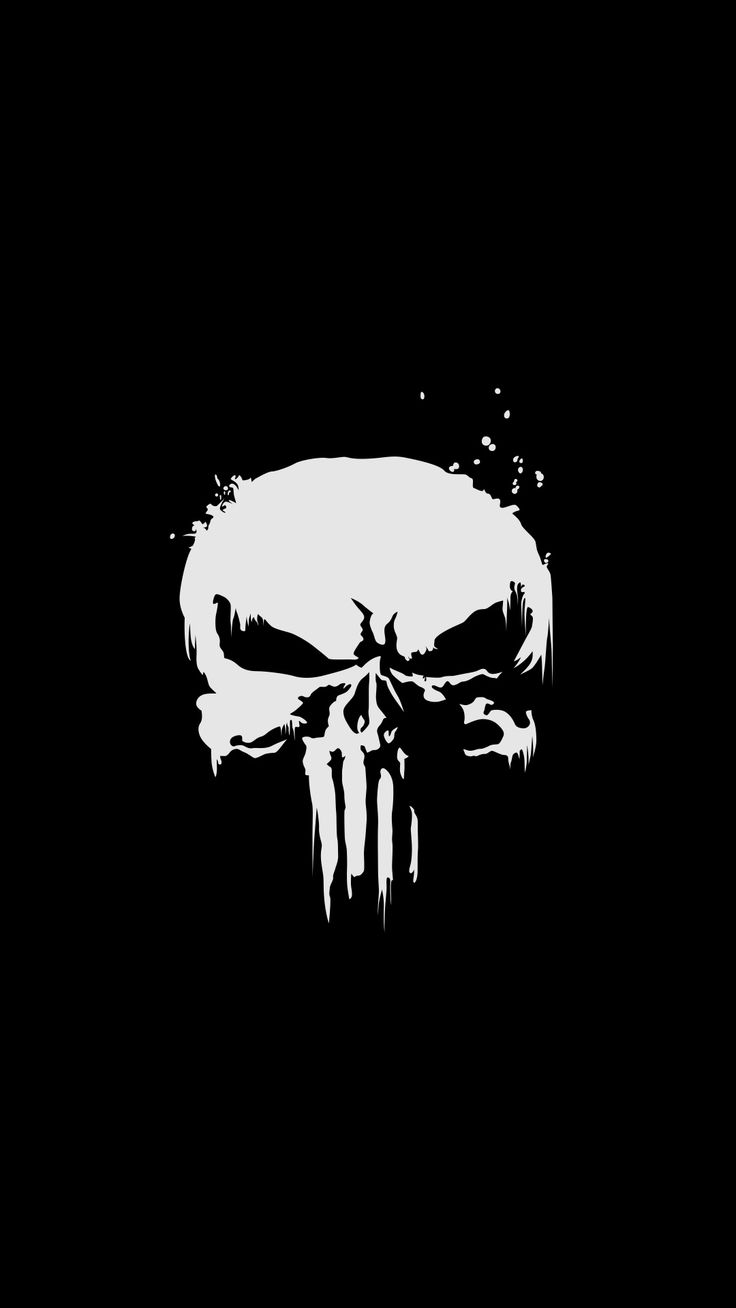 The Punisher, skull, minimal, superhero, dark wallpaper