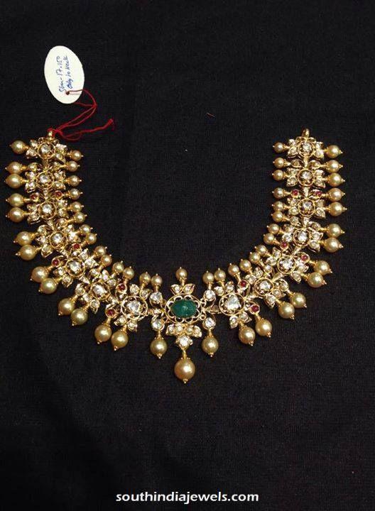 Gold Polki Necklace Latest Model 2015