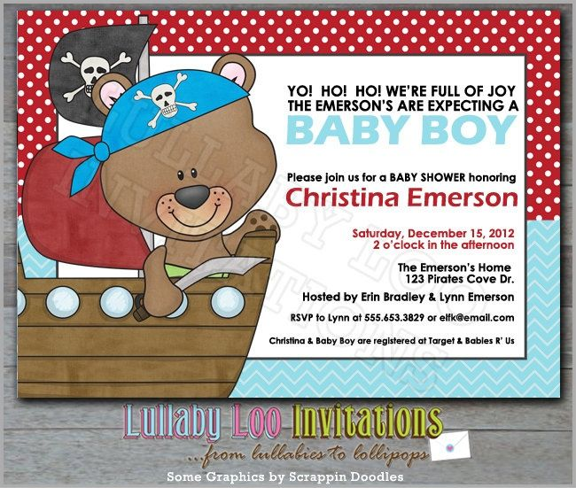 Download Now Pirate Baby Shower Invitations