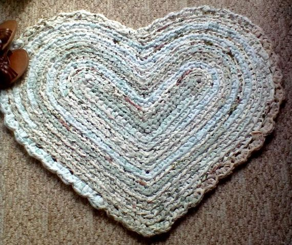 Crochet A Rag Rug Instructions: 563 Best Images About Alfombras On Pinterest