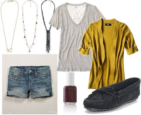 (for elisa) a yellow cardigan