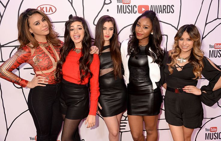 Fifth Harmony on the red carpet at the 2013 YouTube Music Awards.