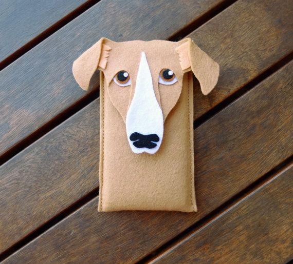Sighthound iPhone Case Dog Felt Phone Cover Cell by LayonStore