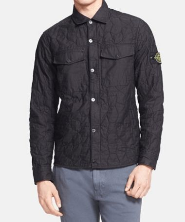 Stone Island Quilted Shirt Jacket Black 40% Off http://www.thesalescout.com/stone-island-sale/