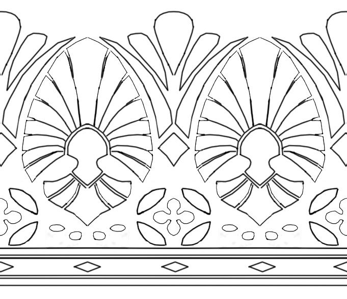 This would make a great thigh garter style tattoo!!!Zelda hyrule warrior bottom skirt pattern by soie-yoie.deviantart.com on @DeviantArt