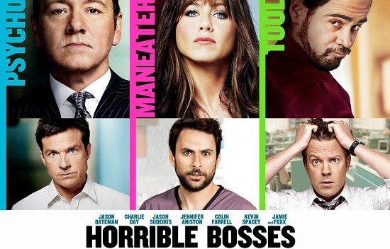 Movie name: Horrible Bosses. IDMb rating: 6.9/10. Published in 2011. Description: Three friends conspire to murder their awful bosses when they realize they are standing in the way of their happiness.