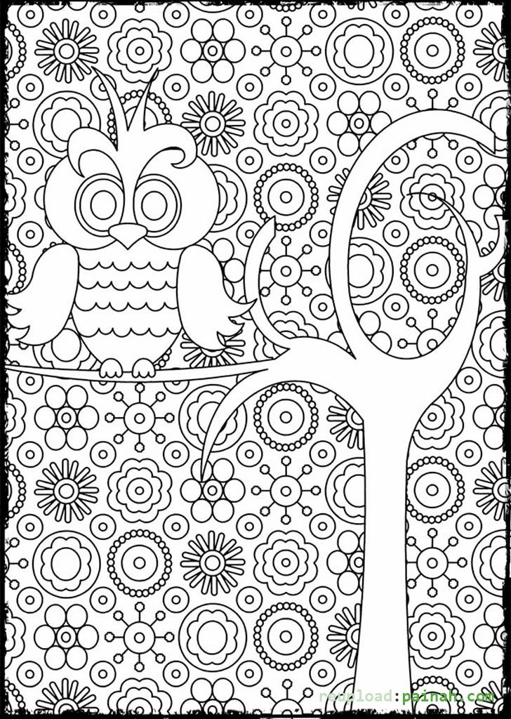 advanced coloring pages for adults owl