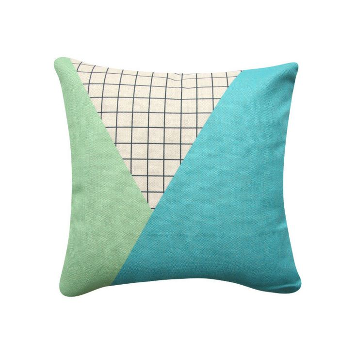 Green Turquoise Geometric Decorative Pillow, Color Block Cushion, Mint Turquoise Cushion Scandinavian Pillow Cover, 335 by BeadandReel on Etsy https://www.etsy.com/listing/278175692/green-turquoise-geometric-decorative