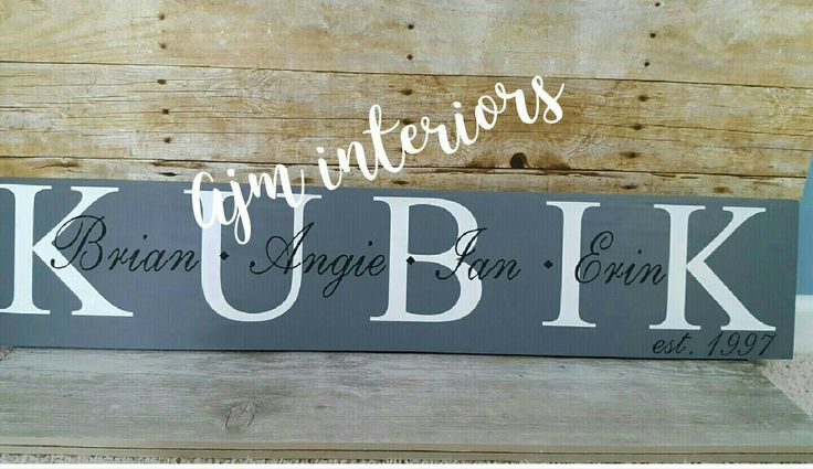 Family name sign, last name sign, last name first name sign, family established sign, family names, family name wood sign by Ajminteriors on Etsy