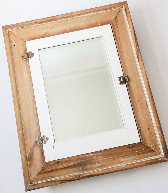 Best 25 wood medicine cabinets ideas on pinterest rustic medicine cabinets pallet bathroom for Wood bathroom medicine cabinets with mirrors