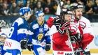Dec.30 2015 - Alexandre Giroux and Cory Conacher scored third-period goals just over a minute apart to rally Canada to an exciting 6-5 semifinal win over HC Davos on Wednesday at the Spengler Cup.