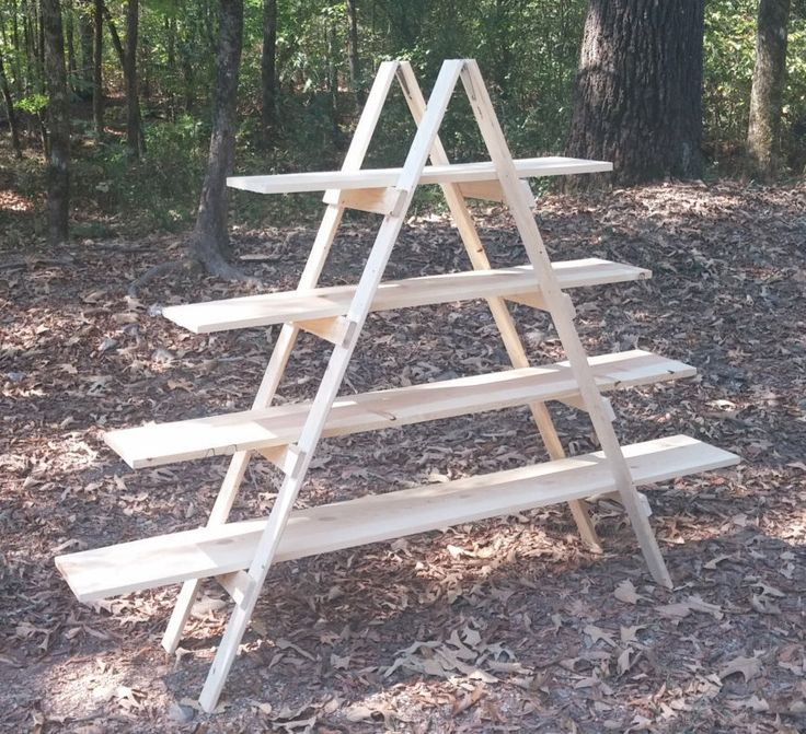 large 5 foot tall portable aframe ladder display shelf arts and craft fair booth