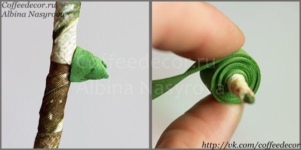 Роза из фоамирана: цветоложе