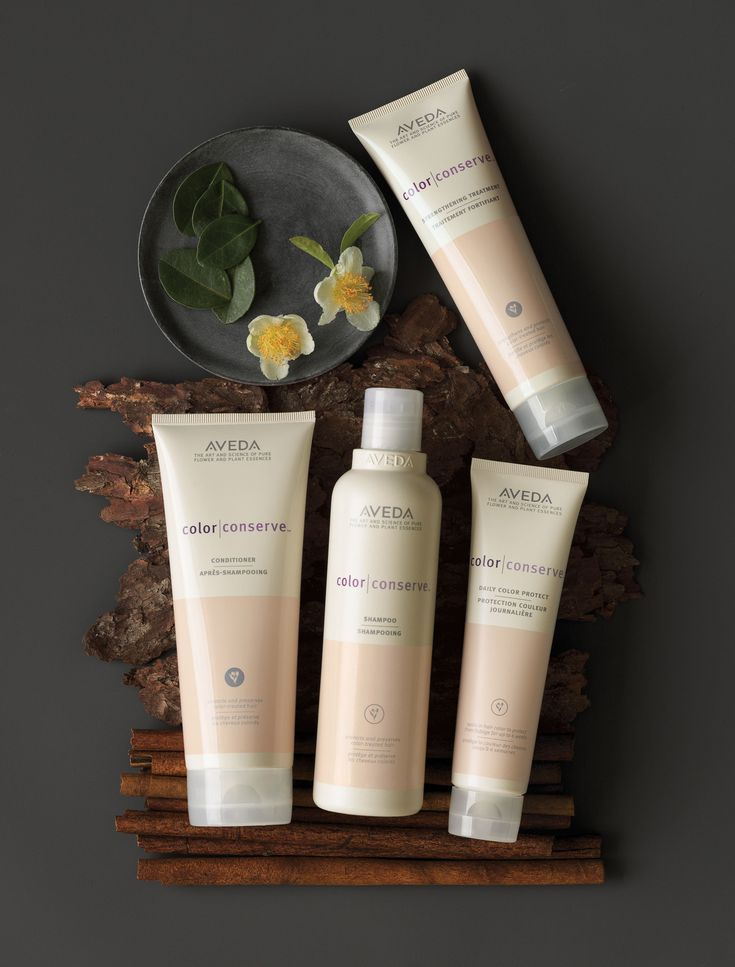 #AVEDA Color Conserve System. Shampoo + Conditioner + Daily Color Protect + Strengthening Treatment.  System protects color, prevents hair color from fading, locks in color, resists fading, strengthens and illuminates color.