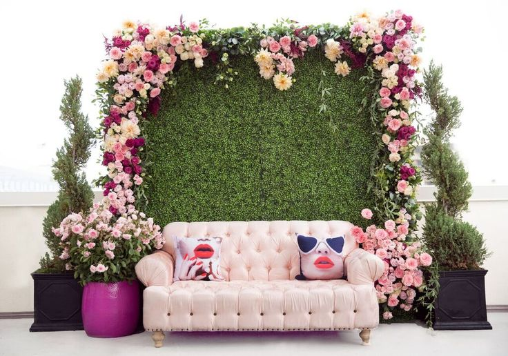 Bat Mitzvah, Blush Couch, Blush Sofa, Blush Flowers, Blush Party, Lounge Chair, Stella McCartney's Lip Collection, Lip Chair, Lip Cushion, Garden Party, Rooftop Party, Outdoor Party, See more at loveluxelife.com #loveluxelife