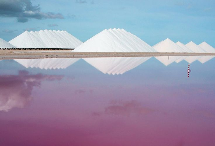 Salt Works, Bonaire These salt pans are amazing to see in person!