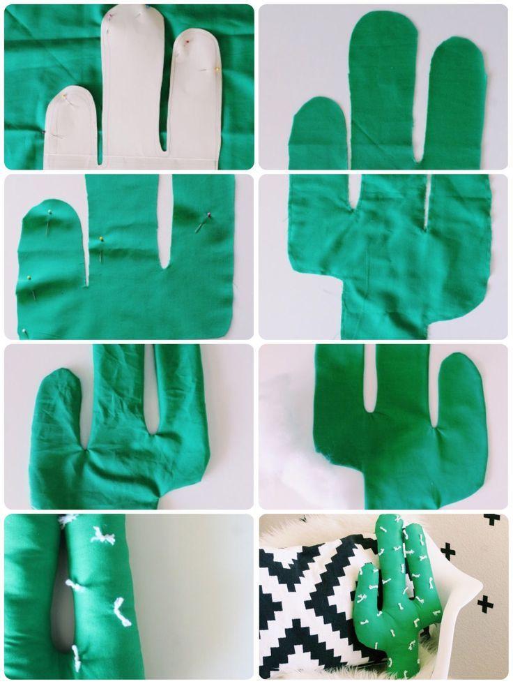 DIY Kaktus aus Stoff nähen und selbermachen