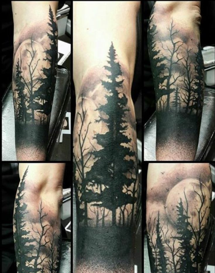 Forest tattoo (Naughty Needles / Paul Owen amazing artist)