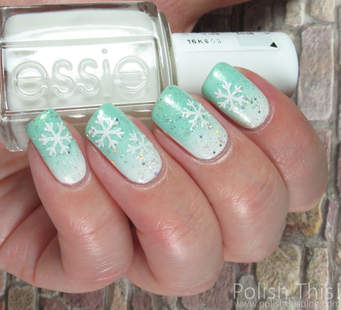 Polish This!: Minty Snowflakes