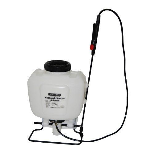 Tahoe Backpack Garden/Lawn/Weed/Pest Sprayer 4 Gal Gallon by tahoe. $39.99. Oversized trigger wand with fingertip locking feature for continuous operation.. Easy fill mouth with a built in strainer.. Easy to use high-volume pump for fast pressurizing.. Easy to carry with an anti-fatigue shoulder strap for big jobs and top carry handle for quick jobs.. Easy to clean.. Tahoe sprayers are compact and versatile, ideally suited for home lawn and garden projects to spray; wat...
