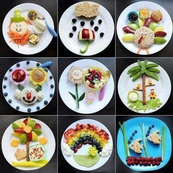 Идеи для детских тарелок
