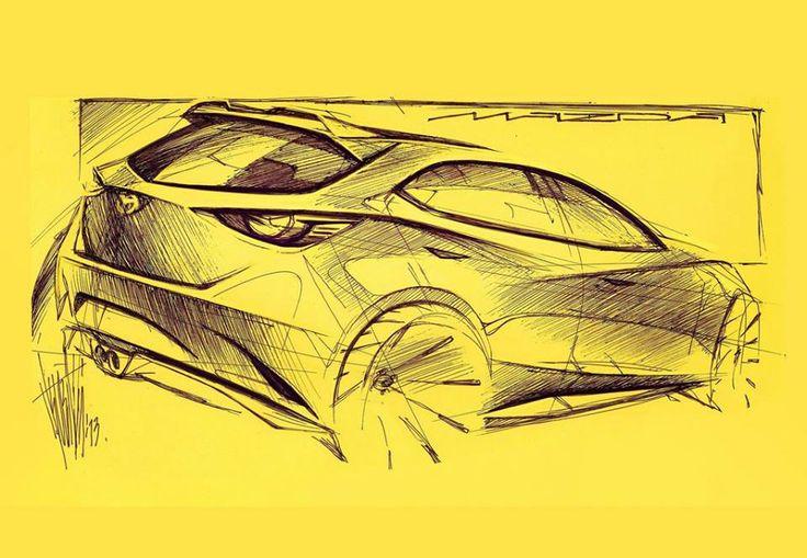 Mazda Hazumi Concept (2014), official sketch