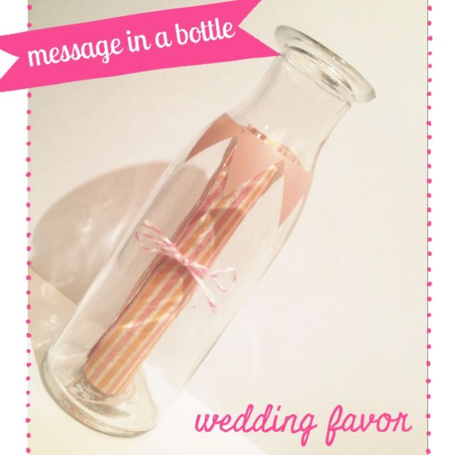 Message in a bottle. Great idea for wedding favors - a thank you message and gift all in one! :) Enquire now: info@cherishonline.com.au
